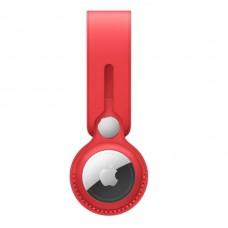 AirTag Leather Loop - Red