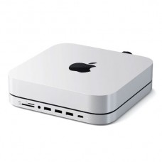 SATECHI STAND & HUB FOR MAC MINI WITH SSD ENCLOSURE, Silver