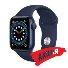 Watch Series 6 40 мм Корпус из алюминия синего цвета, спортивный ремешок «Тёмный ультрамарин»