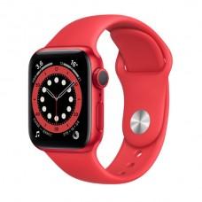 Watch Series 6 40 мм Корпус из алюминия красного цвета, красный спортивный ремешок