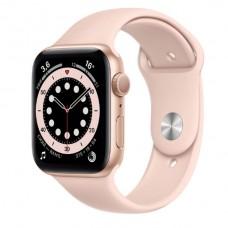Watch Series 6 44 мм Корпус из алюминия золотого цвета, спортивный ремешок «Розовый песок»