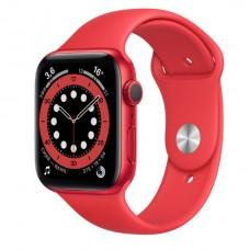 Watch Series 6 44 мм Корпус из алюминия красного цвета, красный спортивный ремешок