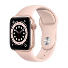 Watch Series 6 40 мм Корпус из алюминия золотого цвета, спортивный ремешок «Розовый песок»