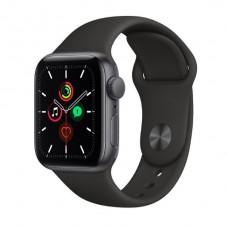 Watch Series SE 40 мм Корпус из алюминия цвета «Серый космос», черный спортивный ремешок
