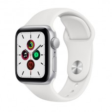 Watch Series SE 40 мм Корпус из алюминия серебристого цвета, белый спортивный ремешок