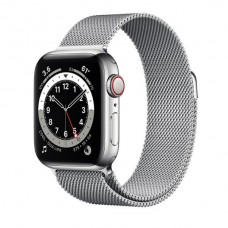 Watch Series 6 40 mm Silver Stainless Steel Case with Milanese Loop